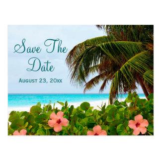Beach Save the Date Destination Wedding Card