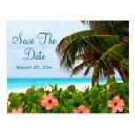 Beach Save the Date Destination Wedding Card Postcards