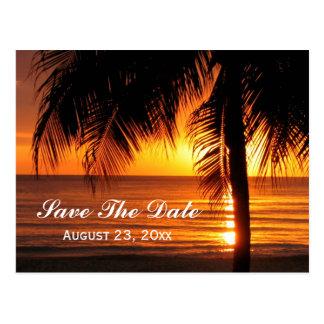 Beach Save the Date Destination Wedding Card Postcard