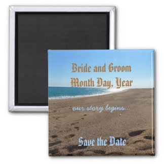 "Beach ""Save the Date"" Magnet"