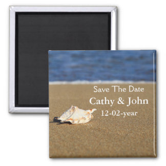 beach Save the date magnet Magnets
