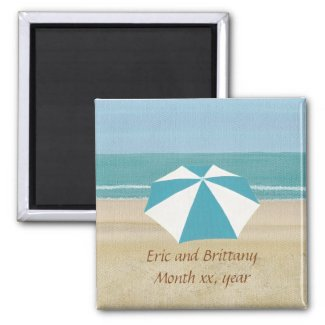 Beach Save the Date Magnets for Weddings
