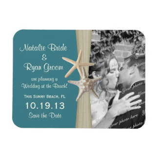 Beach Save the Date Photo Magnet