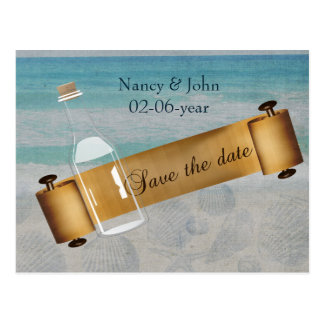 Beach Save the date Post Card