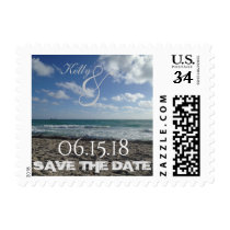 Beach Save the Date Stamp