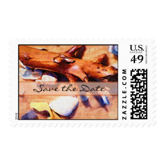 Beach Save the Date Stamps