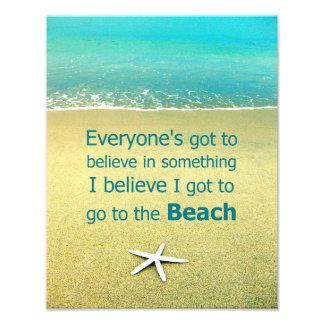 Beach Saying Starfish Photo