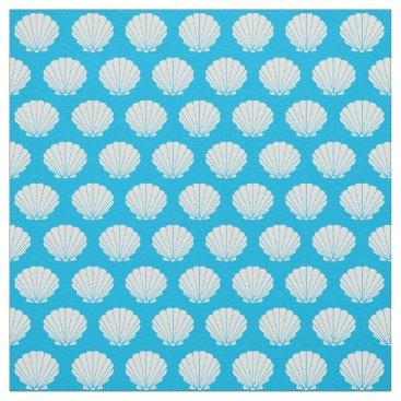 Professional Business Beach Scallop Shells Pattern Fabric