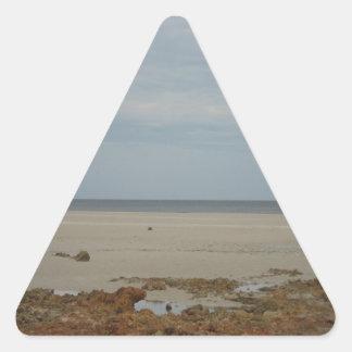 Beach Scape Triangle Sticker