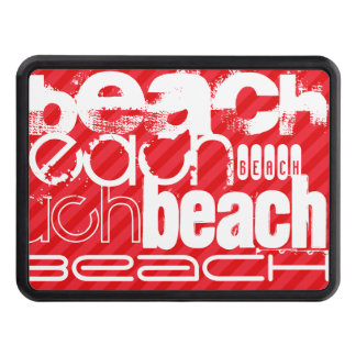Beach; Scarlet Red Stripes Tow Hitch Cover