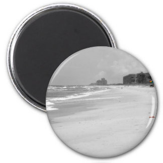 Beach Scene 2 Inch Round Magnet