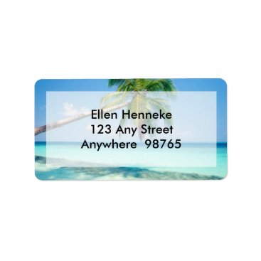 Beach Themed Beach Scene 2 Label