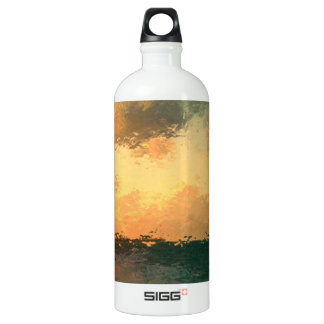 beach scene aluminum water bottle