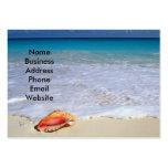 Beach scene and Seashell Business Card