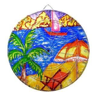 Beach Scene Art2 Dart Boards
