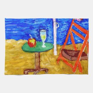Beach Scene Art4 Hand Towel