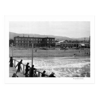 Beach Scene at Seaside, Oregon Photograph Postcards