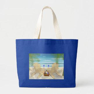 Beach Scene Canvas Bags