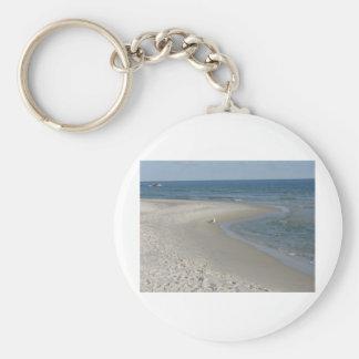 Beach Scene Basic Round Button Keychain