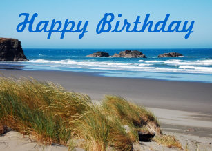 Beach Scene Birthday Greeting Card