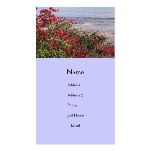 beach scene business card template