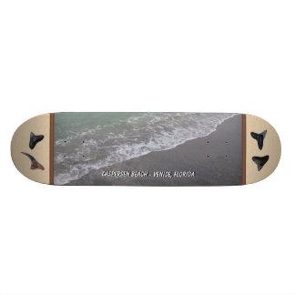 Beach Scene Caspersen Beach Venice Fl Shark Teeth Custom Skate Board
