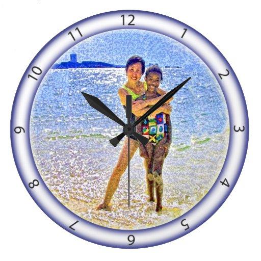 Beach Scene Clock