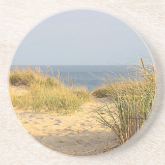 Beach scene coaster