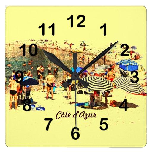 Beach scene, Côte d'Azur clock