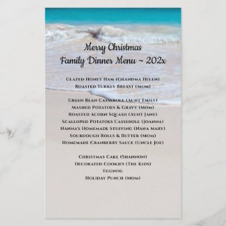 Beach Scene Family Gathering Menu