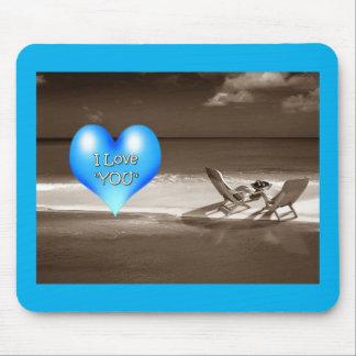BEACH SCENE/I LOVE YOU=AWESOME MOUSEPAD