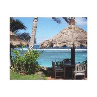 Beach Scene in Bali wrappedcanvas