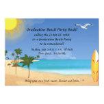 beach scene invitation, teens beach graduation