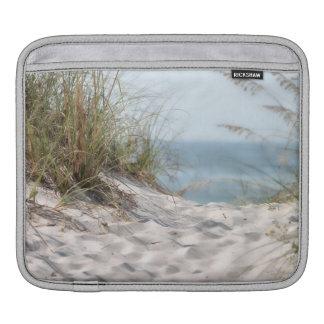 Beach scene iPad sleeve.