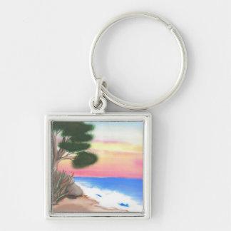 Beach Scene - Keychain
