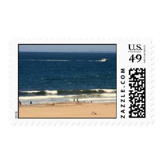 Beach Scene LA Stamps