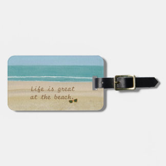 Beach Scene Lovers Sand Ocean Luggage Tags