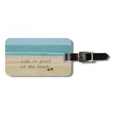 Cherylsart Beach Scene Lovers Sand Ocean Luggage Tags