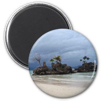 Beach scene magnet