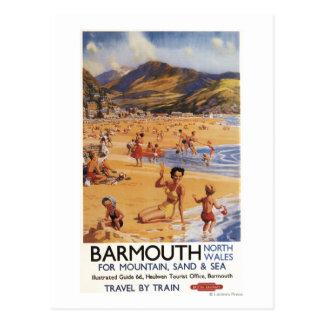 Beach Scene Mother and Kids British Rail Postcards