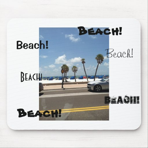 Beach scene on Mouse Mouse Pads