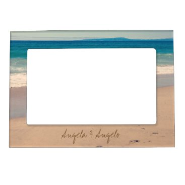 annaleeblysse Beach Scene Personalized for Couple Magnetic Photo Frame