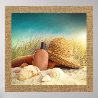 Beach Scene Photography Art Poster