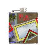 Beach scene pub flask