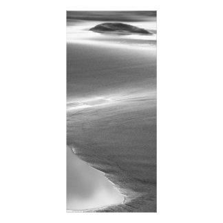 Beach scene rack card