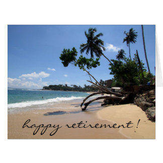 beach scene retirement big card