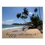 beach scene retirement big large greeting card