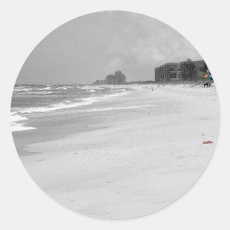Beach Scene Round Sticker
