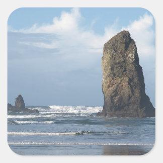 Beach Scene Square Sticker