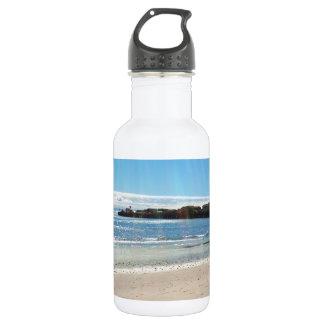 Beach Scene Stainless Steel Water Bottle